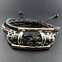Vintage 17Cm MenS Assorted Color  Leather Bracelet(Assorted Color)(1 Pc)