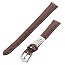 Women's 12mm Craquelure Grain Leather Watch Band (Brown)