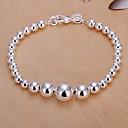Sweet 21cm Womens Silver Copper Strand Bracelet(Silver)(1 Pc)
