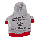 Stylish Hug The Dog Slogan Pattern Coat with Hoodie for Pets Dogs (Assorted Sizes)