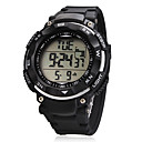 Unisex Big Dial LCD Digital Rubber Band Wrist Watch (Assorted Colors)