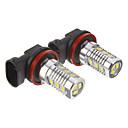H11 6W 12x5730SMD 200-250LM 6000K Cool White Light LED Bulb for Car (10-24V,2pcs)