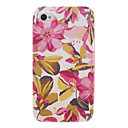 Pink Flower Back Case with Front Frame and Middle Frame for iPhone 4/4S