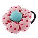 Flower Fabric Dot Hair Ties(Random Color)