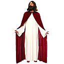 Jesus White  Red Polyester Mens Christmas Costume