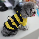 Cat / Dog Costume / Coat / Hoodie Yellow Winter Animal / Stripe Cosplay