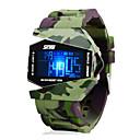 SKMEI Hombre Reloj Militar Reloj de Pulsera Reloj digital Digital Verde 30 m Resistente al Agua Despertador Calendario Digital Encanto - Negro Dos año Vida de la Batería / Cronógrafo / LCD