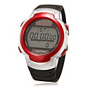 Mens Lcd Digital Round Dial Rubber Band Wrist Watch (Assorted Colors)