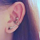 laisse clip d'oreille boucle d'oreille boucle d'oreille rondelle de style rock avec du laiton antique pour l'oreille gauche (1 pièce)