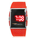 Unisex Red LED Digital Rubber Band Wrist Watch
