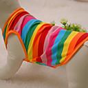 Cat / Dog Shirt / T-Shirt Rainbow Summer / Spring/Fall Stripe Fashion