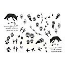 5-pcs-footmark-waterproof-temporary-tattoo11cm15cm