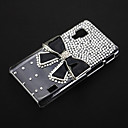 Black Bowknot with Rhinestone Pattern Transparent Plastic Hard Back Case Cover for LG Optimus L5 II