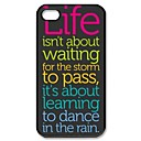 Inspirational Quotes Pattern Plastic Hard Case for iPhone 4/4S