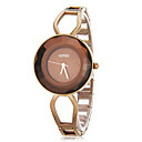 Womens Simple Round Dial Hollow Engraving Steel Band Quartz Analog Wrist Watch (Assorted Colors)