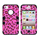 Leopard Style Protective Silicone Case for iPhone 4/4S (Assorted Colors)