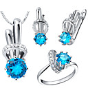 Bottle Multicolor Cubic Zirconia (NecklacesEarringsRings) Gemstone Jewelry Sets
