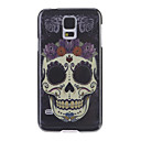 Cool Skull with Purple Flower Back Case for Samsung S5/i9600