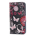 Rose Red Butterfly Pattern PU Leather and Plastic Back Cover Full Body Case for Motorola MOTO G