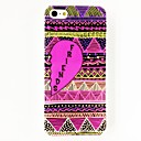 Love Heart Triangle Stripe Charming Friends Word Pattern Plastic Hard Case for iPhone 4/4S