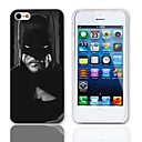 Man Pattern Hard Case with 3-Pack Screen Protectors for iPhone 5/5S