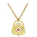 Womens Handbag Pattern Quartz Analog Necklace Watch