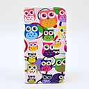 Colorful Owl Pattern PU Leather with Soft Case and Card Slot for Samsung Galaxy S5 I9600