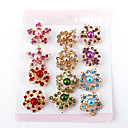 Wedding Style Elegant Silver Plated Rhinestone Brooch(Random Color,12 PCS Per Package)