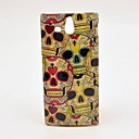Cool Heart Skull Pattern Hard Case for Sony Xperia U ST25i