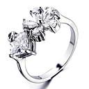 Wedding Style Fashion Flower Silver Ring(Random Size)