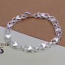 Fashion 20cm Womens Silver Plated Alloy Chain Bracelets(1pc)