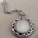regalo per la fidanzata d'epoca (opale rotondo) lega di argento collana pendente (1 pc)
