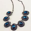 regalo per la fidanzata vintage (gemma blu goccia) Coppia lega di argento (più colori) (1 pc)