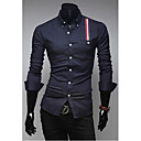 Shirt Stripes abbellimento Uomo Casual