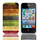 Vintage Stripes Pattern Hard Case with 3-Pack Screen Protectors for iPhone 4/4S