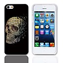 Skulls Pattern Hard Case with 3-Pack Screen Protectors for iPhone 5/5S
