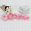High Quality Plastic Material 4PCS/Set  Bakeware Cookie Cutter Leaf Shaped Mold (Random Color)