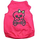 Cute skull Pattern 100% Cotton vest for Pets Dogs (Assorted Sizes)