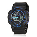 Mens Multi-Functional Digital Dial Rubber Band Wrist Watch (Assorted Colors)