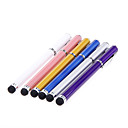 2 Pieces Packed 2-in-one Clip on Ballpoint Designed Metal Touch Stylus Pen for iPad and Others (Random Colors)