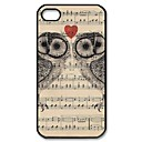 Owls on Sheet Music Pattern Plastic Hard Case for iPhone 4/4S