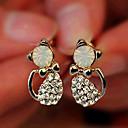 Lureme Crystals Little Cat Stud Earrings