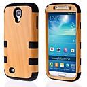 Wood Grain Pattern Hard Full Body Detachable Case for Samsung Galaxy S4 I9400
