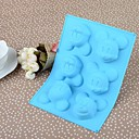 20.3CM14.8CM2.5CM Environmental Silicone Mouse  Cake/Ice/Chocolate Mould(Random Color