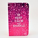 Keep Calm and Sparkle Pattern Full Body Case with Stand for Samsung Galaxy Tab 3 8.0 T310