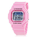 Womens Spectrum LCD Digital Square Dial Silicone Band Sporty Wrist Watch (Assorted Colors)