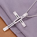 (1 Pc)European (Cross) White Copper Pendant Necklace