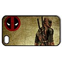 Dead Pool Pattern Plastic Hard Case for iPhone 4/4S