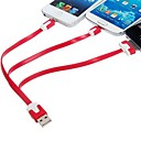 3-in-one 30-pin 8-pin and Micro USB Flat Data Charging Cable for iPhone 6 iPhone 6 Plus iPhone4/4S/5(20cm)