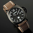 Infantry Police Force Mens Quartz Numeric DateFashion Army Leather Strap Watch (All Black with Brown Strap)